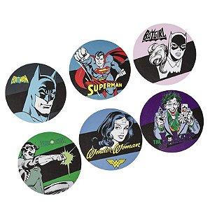 Set c/ 6 Porta Copos MDF Heróis - DC Comics