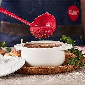 Concha Escumadeira 2 em 1 Para Feijão Sopa Caldos