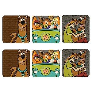 Set c/ 6 Porta Copos em MDF Scooby Doo e Amigos
