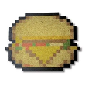 Descanso de Panela Hambúrguer 8 Bits