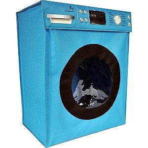 Cesto para Roupa Suja Máquina de Lavar - Azul