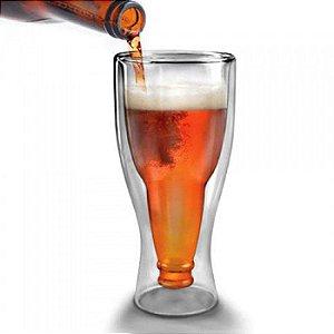 Copo em Formato de Garrafa de Cerveja