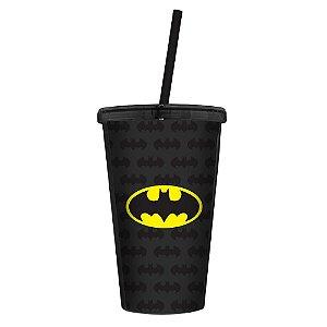 Copo com Tampa e Canudo DC Comics - Batman