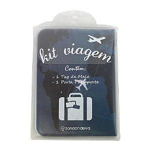 Kit Viagem Tag + Porta Passaporte - Boa Viagem