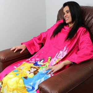 Cobertor com Mangas Adulto - Princesas