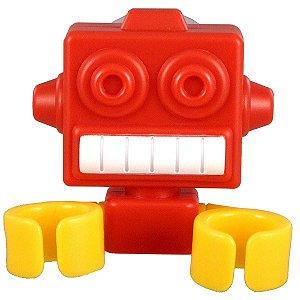 Suporte Robô para Escova de Dente com Ventosa - Vermelho