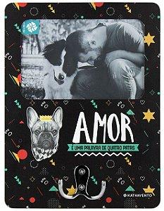 Cabideiro Porta-Retrato (2 em 1) Cachorro Amor