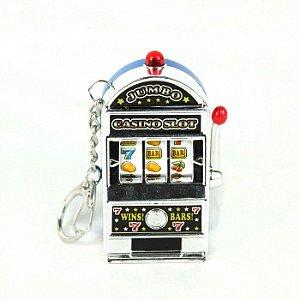 Chaveiro - Mini Caça Níquel - Prata