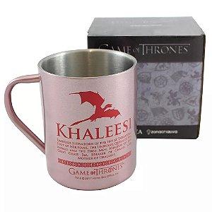 Caneca de Aço Game of Thrones - Khaleesi