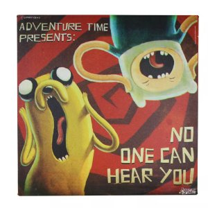 Quadro Hora de Aventura - Finn e Jake No One Can Hear You