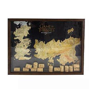 Quadro Coleção de Rolhas Game Of Thrones - Westeros