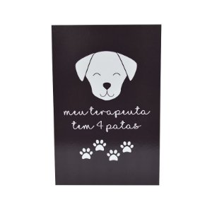 PLACA DECORATIVA PET - TERAPEUTA CACHORRO