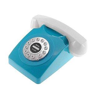 Telefone Retrô Azul