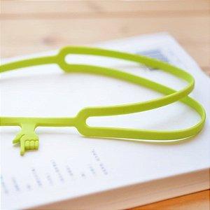 Marcador de Livro de Silicone Dedo - Verde