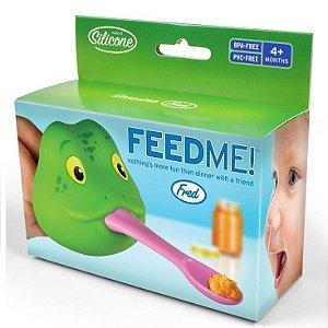 Colher para Bebê Feed Me Frog Spoon