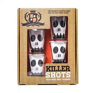 Conjunto com 4 Copos de Vidro Killer Shots