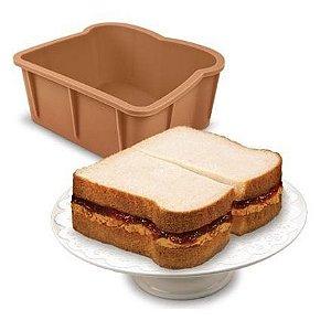 Forma de Bolo de Silicone em Formato de Sanduiche Cakewich