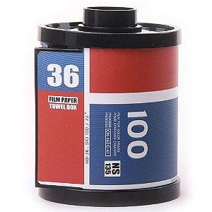 Porta Papel Higiênico Rolo de Filme Vermelho e Azul