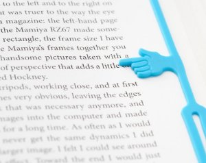 Marcador de Livro de Silicone Dedo - Azul