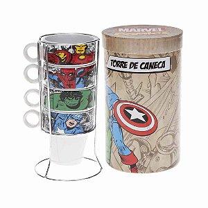 Torre de Canecas Heróis Comics - Marvel