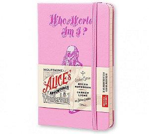 Caderno Moleskine Edição Limitada Alice No País das Maravilhas Pautado