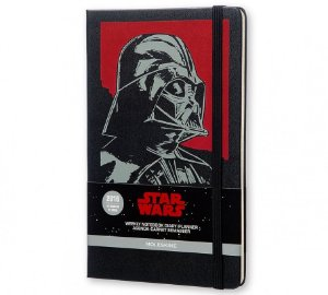 Agenda Moleskine Grande Semanal Edição Limitada Star Wars VII Darth Vader
