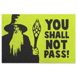 Capacho em Vinil - You Shall Not Pass