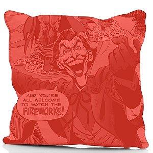 Capa de Almofada DC Comics Coringa - Fireworks