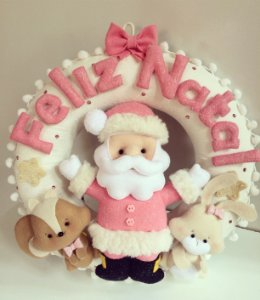 Guirlanda de Natal Cor de Rosa