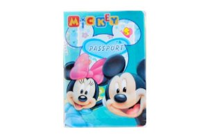 PORTA DOCUMENTOS OU PASSAPORTE MICKEY E MINNIE