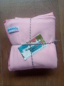 Wrap Sling malha 100% algodão _ Rosa Bebê