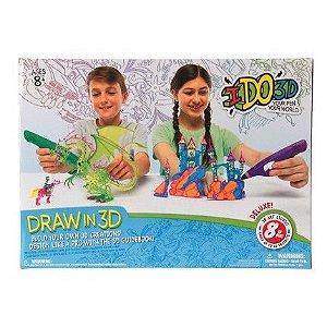 Caneta 3D Ido3D Conjunto 8 Canetas Multikids - BR489
