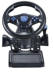 Multilaser Volante Racer 3 em 1 para PS2, PS3 e PC JS073 Azul