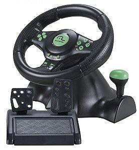 Multilaser Volante Racer 4 em 1 para Xbox 360, PS2, PS3 e PC JS075 Verde
