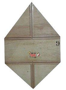 Forma / Gabarito Profissional Para Fazer Pipa Quadrada 70 Cm