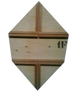 Forma / Gabarito Profissional Para Fazer Pipa Carrapeta Reta 50cm