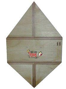 Kit Fazer 100 Pipas Reta Quadrada 80 CM Liso