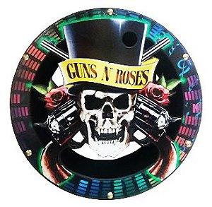 Carretilha Madeira 28 CM - Vazada Guns N Roses