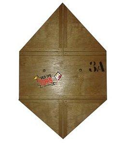 Forma / Gabarito Profissional Para Fazer Pipa Quadrada Reta 50cm