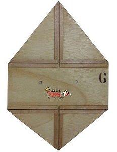 Forma / Gabarito Profissional Para Fazer Pipa Quadrada Reta 55 Cm