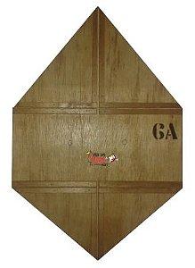Forma / Gabarito Profissional Para Fazer Pipa Reta Quadrada 60cm