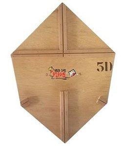 Forma / Gabarito Profissional Para Fazer Pipa Curva 55 Cm