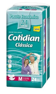 Fralda Geriatrica Cotidian Classica M com 24 fraldas