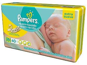 Fralda Descartável Infantil Pampers RN com 40 unidades