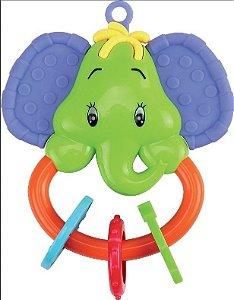 Chocalho Mordedor Bichos Divertidos Elefante Kitstar