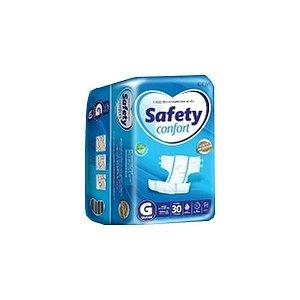 FRALDA GERIATRICA SAFETY CONFORT G COM 30 FRALDAS