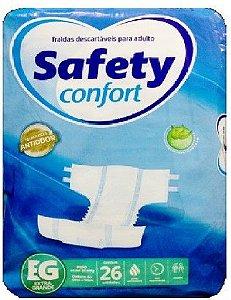 FRALDA GERIATRICA SAFETY CONFORT EG COM 26 FRALDAS