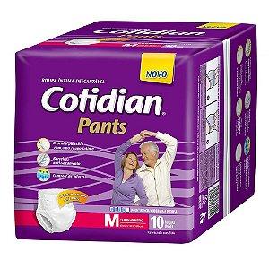 Roupa Íntima Unissex Cotidian Pants M com 10 fraldas
