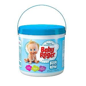 Lenços Umedecidos Baby Roger Balde com 450 Azul