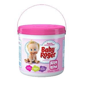 Lenços Umedecidos Baby Roger Balde com 450 Rosa